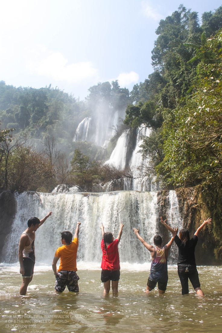 TEE LOR SU WATERFAL.THE MOST BEAUTIFUL WATERFALL IN THAILAND. with Friends
