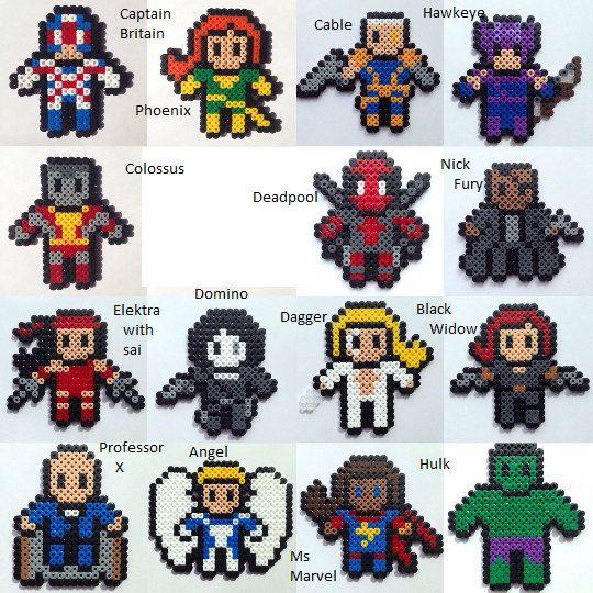 Choose 3 Marvel Heroes Perler / Hama Bead Figures (see ...