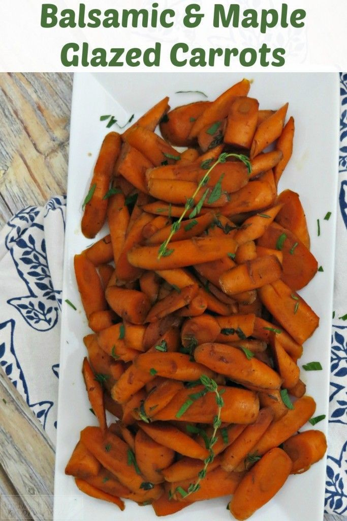These Balsamic & Maple Glazed Carrots are one of our favorite sides. They are perfect for the holidays and family meals, but this side dish also goes great alongside any grilled or roasted meat. It is such an easy recipe to whip up, delicious, andfull of nutrients!