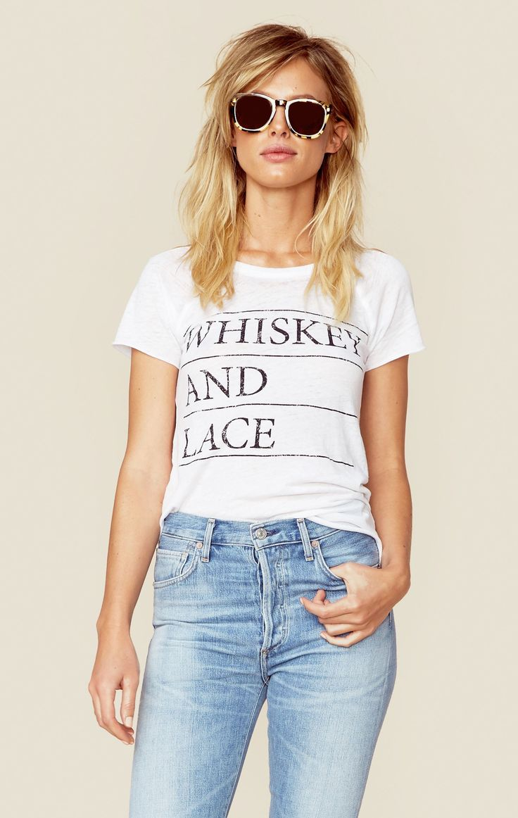 WHISKEY AND LACE TEE
