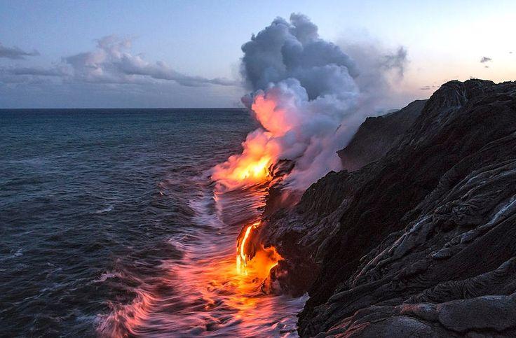 Kilauea Volcano Lava Flow Sea Entry, The Big Island, Hawaii Photo by Brian Harig