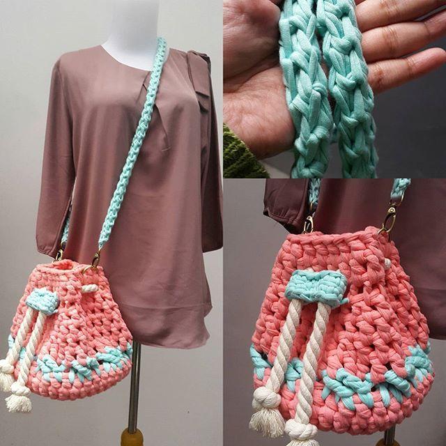 owiw.ailirpa t-shirt yarn crochet bag