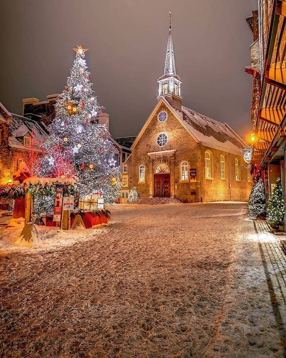 Quartier Petit Champlain Quebec Canada Fun Christmas Decorations Beautiful Christmas Christmas Scenes