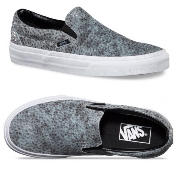 Vans PEBBLE SNAKE CLASSIC SLIP-ON SHOES Vans PEBBLE SNAKE CLASSIC SLIP-ON SHOES.  Brand new with tags still attached.  Comes with shoe box without lid.  Price is firm.  Men's size 5.5.  Women's size 7. Vans Shoes