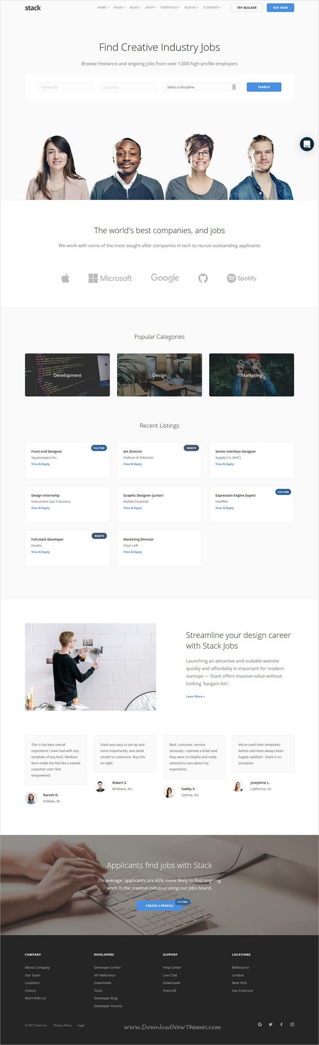 Stack is a robust & flexible responsive HTML #bootstrap template for #jobs #hr #requirement agency multipurpose stunning websites with 30+ homepage layouts, 140+ pages, 270 UI blocks and variant page builder included free download now➩ https://themeforest.net/item/stack-multipurpose-html-with-page-builder/19337626?ref=Datasata