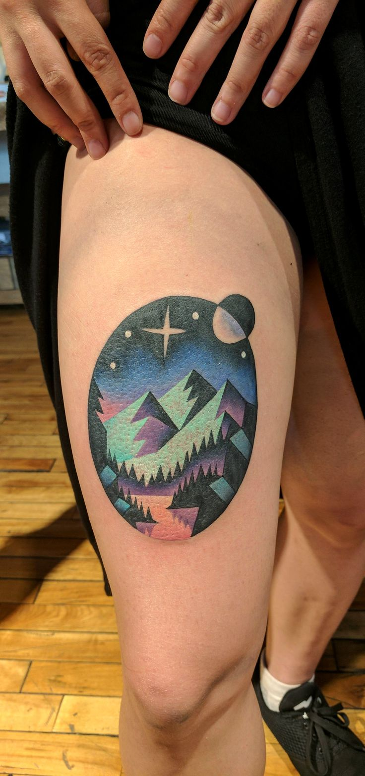 Landscape Tattoo Done by David at Imperial Tattoo Connexion, Montreal