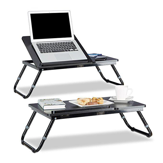 2x Laptoptisch Hohenverstellbar Knietisch Klappbar Betttablett