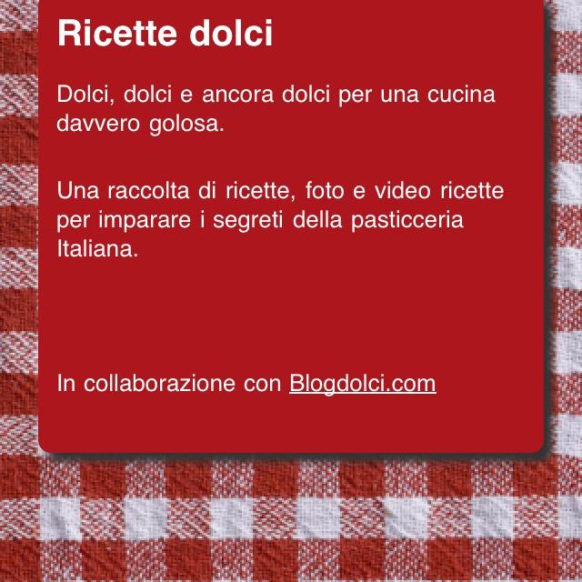 Ricette dolci app per iphone