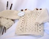 beautiful hand knitted baby sweater