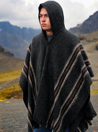 Hooded Rustic Poncho