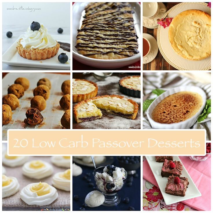 20 Delicious Low Carb Passover Dessert Recipes | All Day I Dream About Food