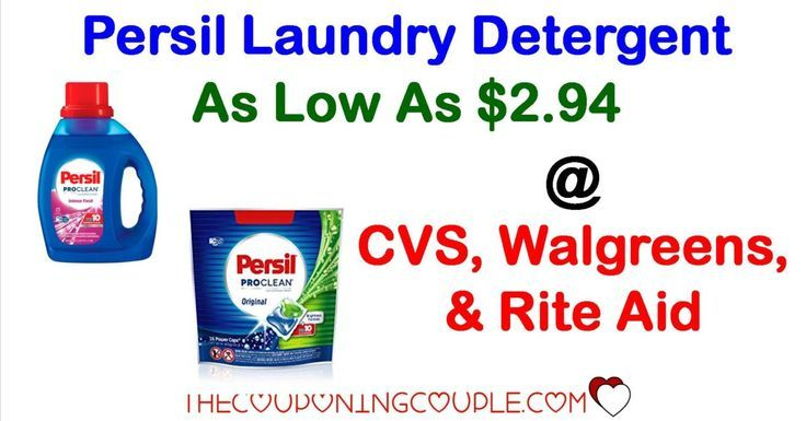 Persil Laundry Detergent As Low As 2 94 Cvs Walgreens