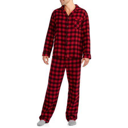 Hanes Men's Flannel Pajamas, Gray