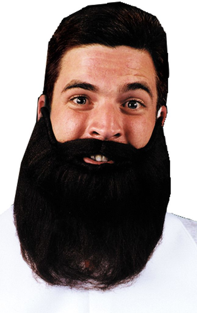 "costume accessory: mustache beard 8""   grey Case of 3"