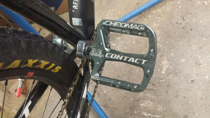 New pedals on XTC  Chromag Contact