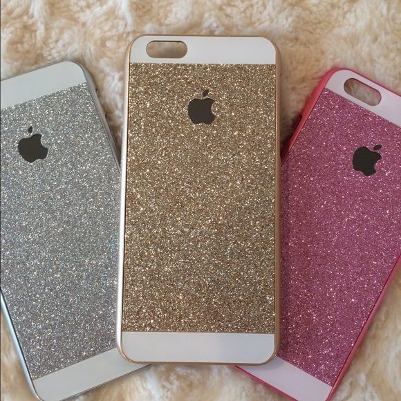 Sparkly case for iPhone 6 New lower price and new stock! Sparkle case for iPhone 6. I have this case in gold, silver, or pink. Let me know if you're interested and I'll make you a listing. The sparkle area on this case is smooth to the touch. I also have these for 6+ in another listing. Such a fun looking case!  Accessories Phone Cases