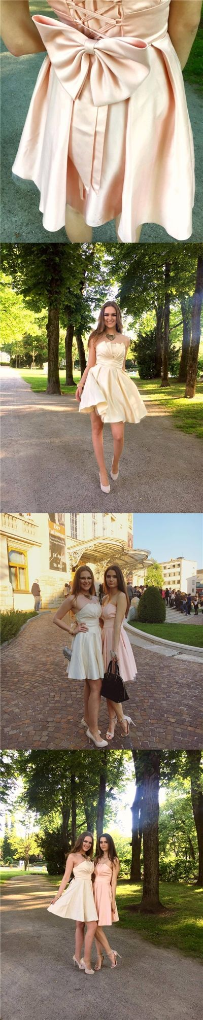 2017 Homecoming Dress Strapless Champagne Short Prom Dress Party Dress JK125