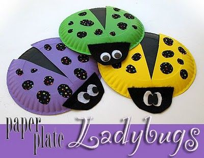 paper plate lady bugs...