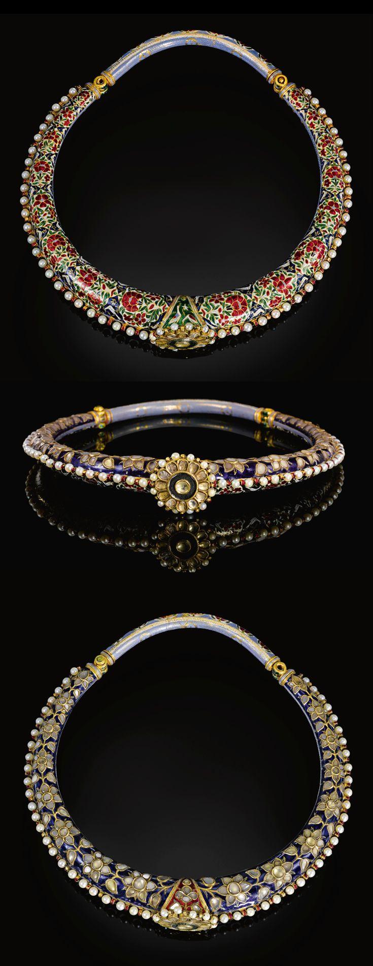 India ~ Jaipur | Enamelled and gem set torque (Hasli) | 19th century | 25'000£ ~ sold (Apr '11)