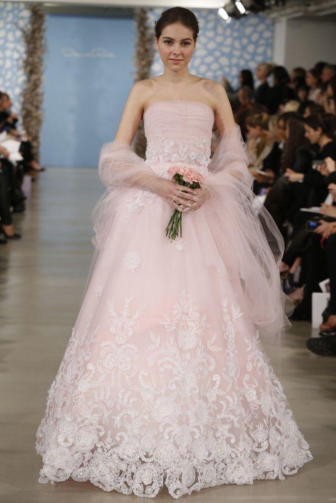 107 best Pink Wedding Dresses images on Pinterest