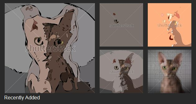 A set of colored abstract vector patterns: Fantasy around cats. #rare #decor #old #drawing #artwork #retro #texture #design #color #painting #background #vintage #illustration #shutterstock