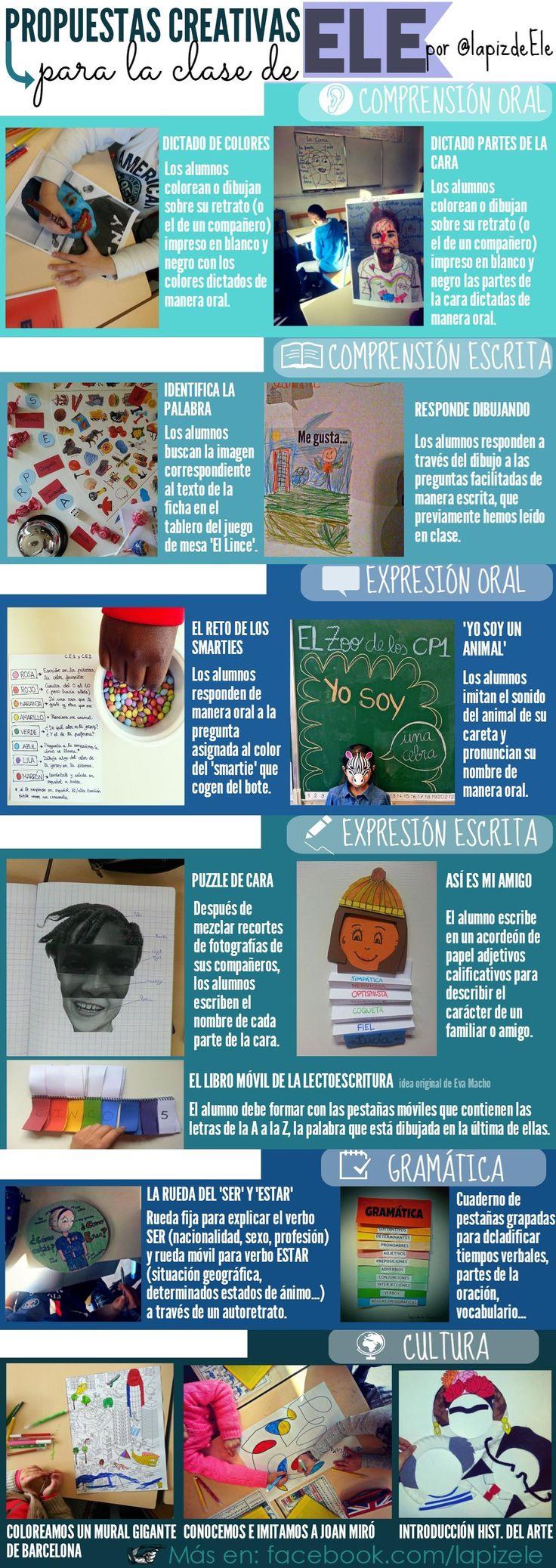 Propuestas creativas para la clase de Español, o para enseñar cualquier lengua extranjera ;)