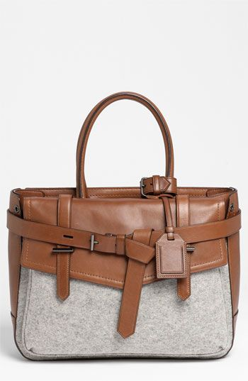 Reed Krakoff 'Boxer' Leather Satchel  - love the leather & wool juxtaposition for Fall!
