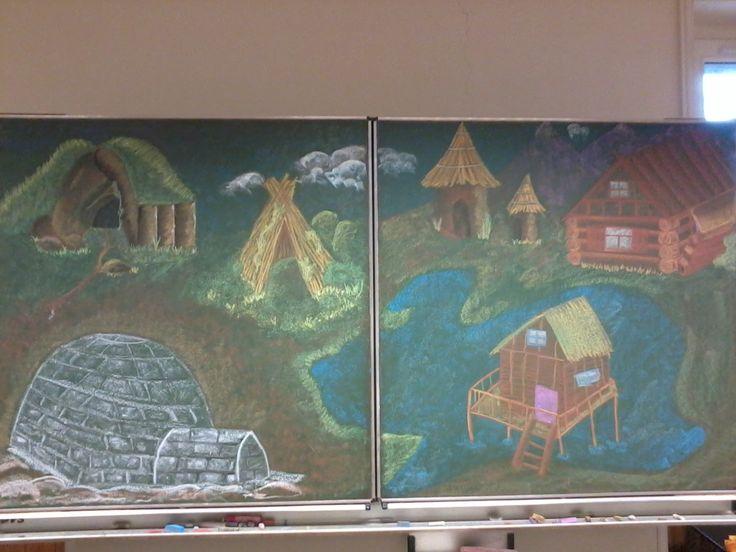 Waldorf third grade : shelters drawing