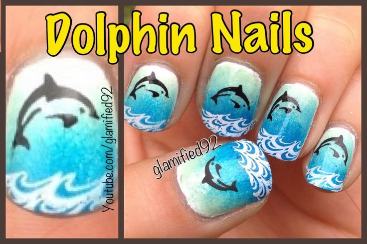 Cool Girls Stuff: Dolphin Nail Art