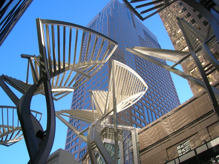 Calgary - A sculpture in the downtown.