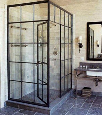 goed gevonden :Douche van oude  ramen