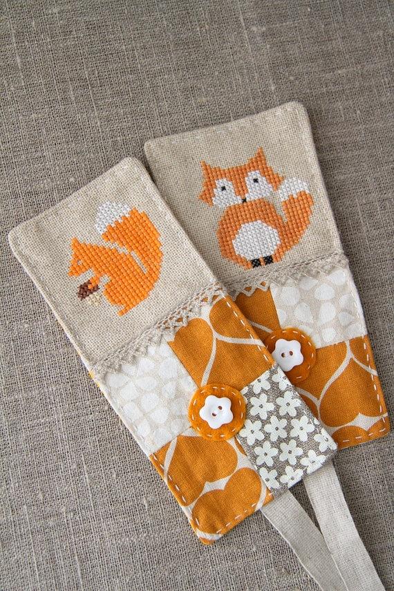 Bookmarks, fox & squirrel by Plushka
