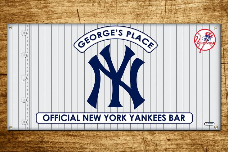 Personalized New York Yankees Bar Banner   As one of the most successful sports clubs in the world, the Yankees have won 18 division titles, 40 AL pennants, and 27 World Series championships, all of which are MLB records. If your a Yankees fan this banner would look gr