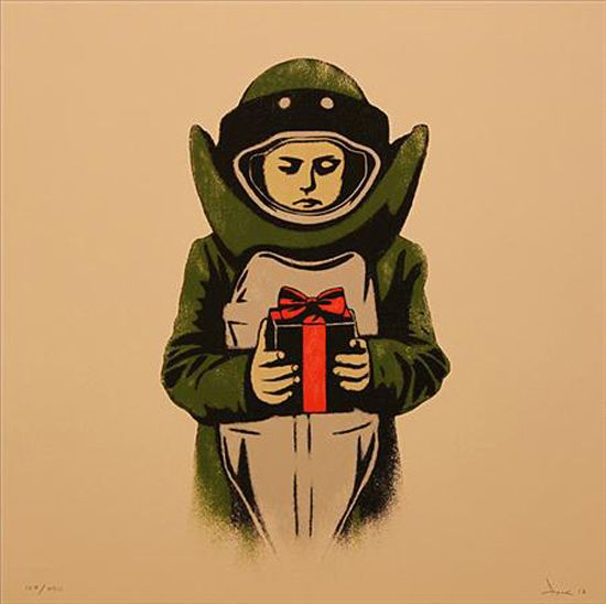 Bomb Suit (Silkscreen Signed Limited Edition of 250) by Dolk