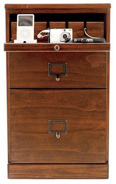 Original Home Office 3-Drawer Cabinet with Charger traditional cable management