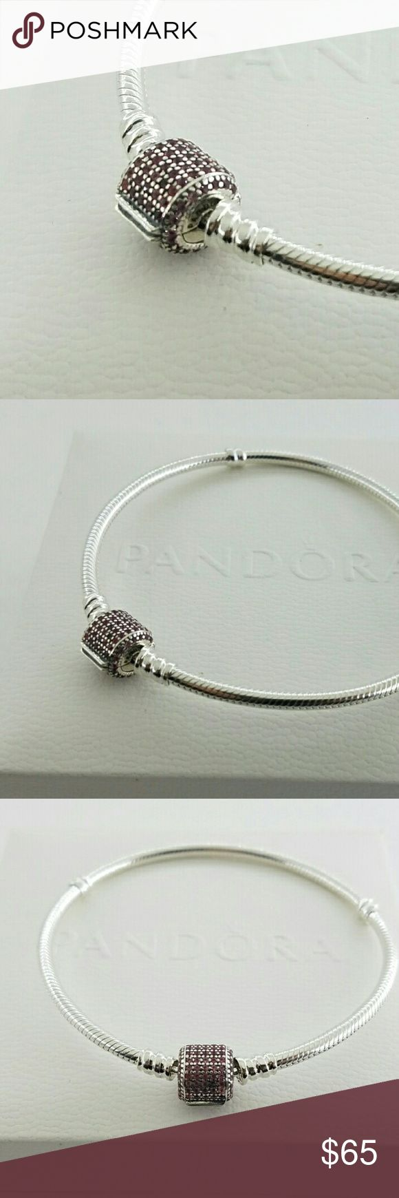 Pandora Bracelet Moments Pink 2016 New season New! Authentic Pandora Sterling Silver Moments Silver Fancy Pink Signature Clasp Bracelet 590723CZS - Box Included   2016 Christmas Collection   Just arrive   Sterling silver  New and never used  % 100 authentic  S925/ale hallmark stamps on it  Official Pandora black velvet box with purchase   If you interested in another item on my list please ask me, I do combine     Enjoy shopping Jewelry Bracelets