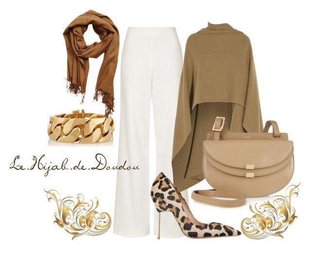 Brown and White Hijab Outfit  http://lehijabdedoudou.wordpress.com