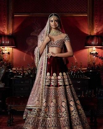50% off on this Dark Maroon Embroidered Velvet unstitched lehenga! Grab it now! Product id- 1644229  Worldwide Delivery | 7 day return Policy Visitm.mirraw.com DM or Whatsapp on 91 8291100288  #EthnicWear #Fashion #Shopping #InstaPhoto #InstaDaily #Ethnic #Bride #BridalWear #TagsForLikes #LikesForLikes
