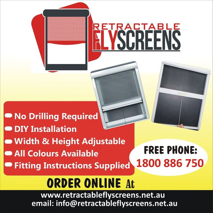 DIY Retractable Flyscreens.................... Due to popular demand we are now supplying our retractable fly screens direct to the public. These are $169 each including GST and delivery, fitting is extra if required.