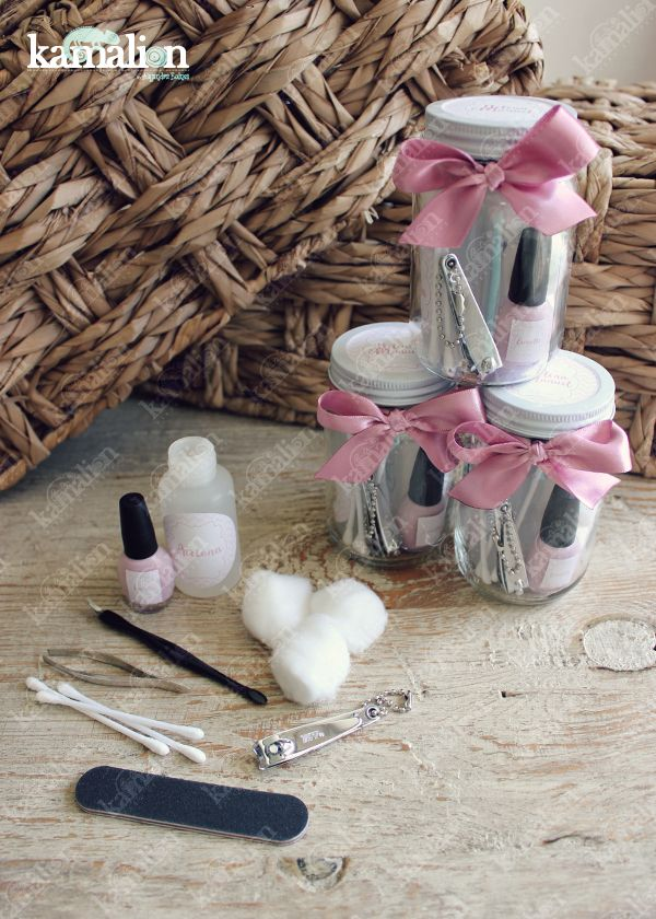 www.kamalion.com.mx - Recuerdos / Favors / Detalles Personalizados / Vintage / boda / wedding / rosa / pink / Kit de manicure / Manicure kit / Esmalte / Lima / Acetona / Nail Polish / Bachelorette