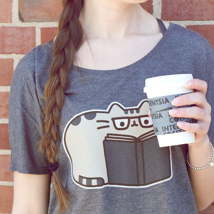 Coffee & a good book is all you need. (Oh, and Pusheen!)
