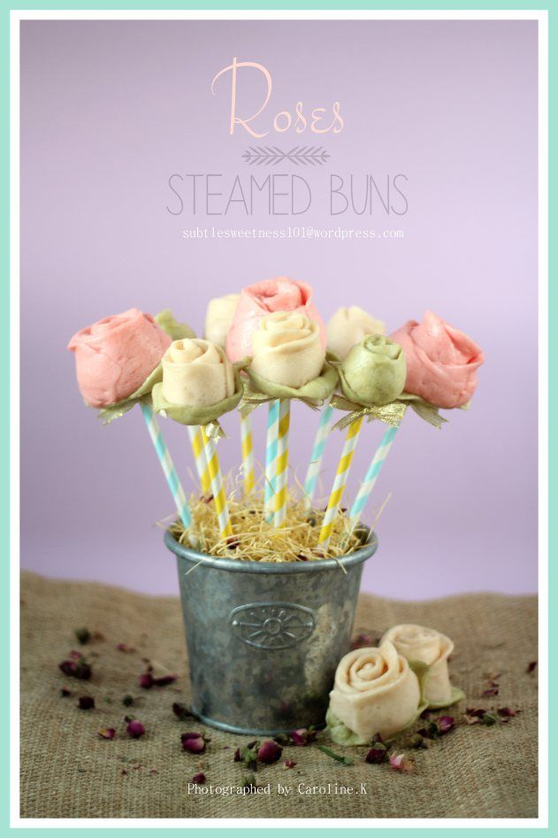 Roses steamed buns (Mantou)