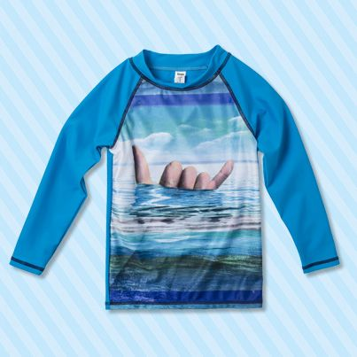 Pumpkin Patch Surf Dude Rash Top - available in sizes 1 to 12 years http://www.pumpkinpatchkids.com/