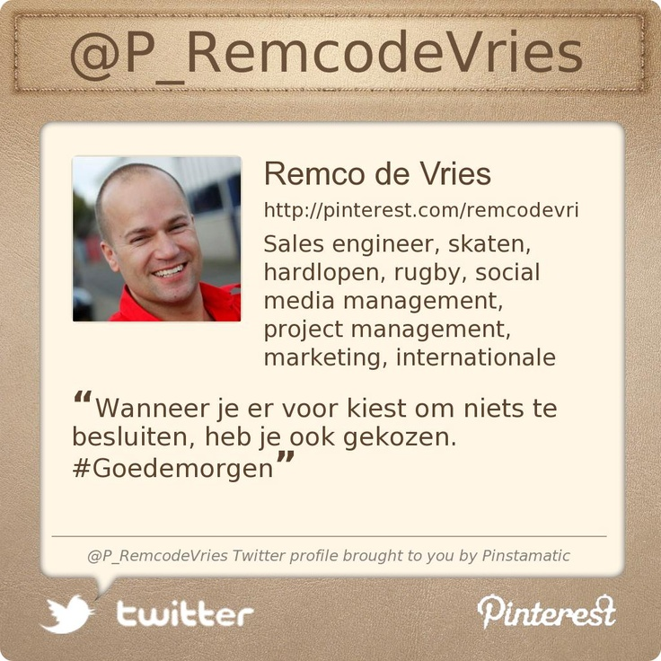 @P_RemcodeVries's Twitter profile courtesy of @Pinstamatic (http://pinstamatic.com)