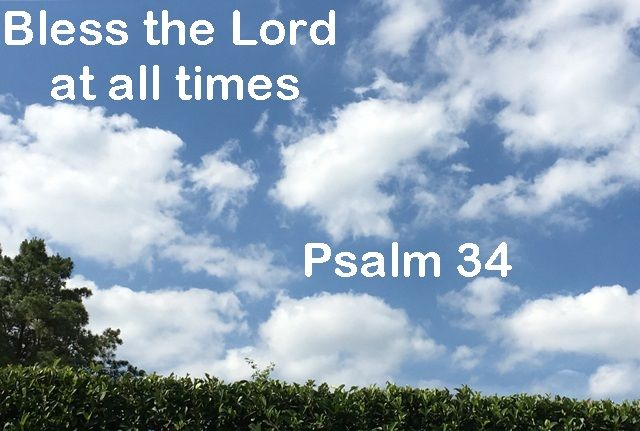 God Morning from Trinity,Texas Today is Tuesday June 6, 2017 Day 157 on the 2017 Journey Make It A Great Day, Everyday! Bless the Lord at all times Today's Scripture: Psalm 34 https://www.biblegateway.com/passage/?search=Psalm+34&version=NKJV His praise shall continually be in my mouth... Inspirational Song https://youtu.be/qtOrCmLoBTg