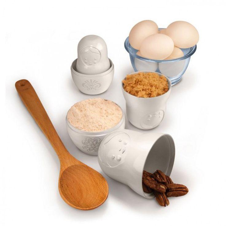 Matroschka Messbecher  sind super praktische Helfer für die Küche! Die Matroschka Messbecher sind vielseitig verwendbar und zusätzlich ein optischer Gag!