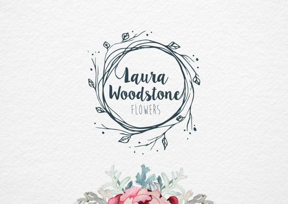 Floral Branch logo, pre made logo, Flower Logo design