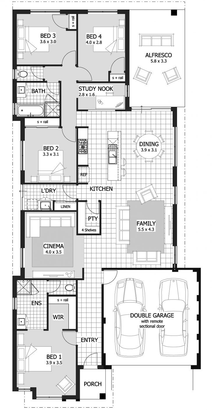 Ascot Alfresco Rh House Plan Home Designs Under Celebration Homes Australia Floor Dashin Narrow Lot House Plans Single Storey House Plans 4 Bedroom House Plans