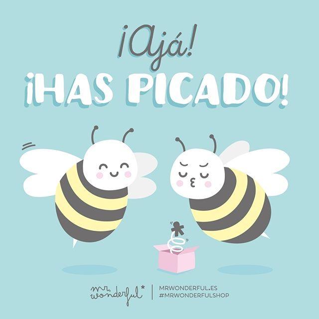 ¿Cuántas veces picarás hoy? #mrwonderfulshop #quotes #bee