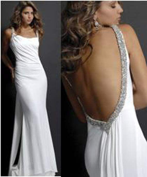 28 best sexy low back wedding dresses images on pinterest for Beach wedding dress low back